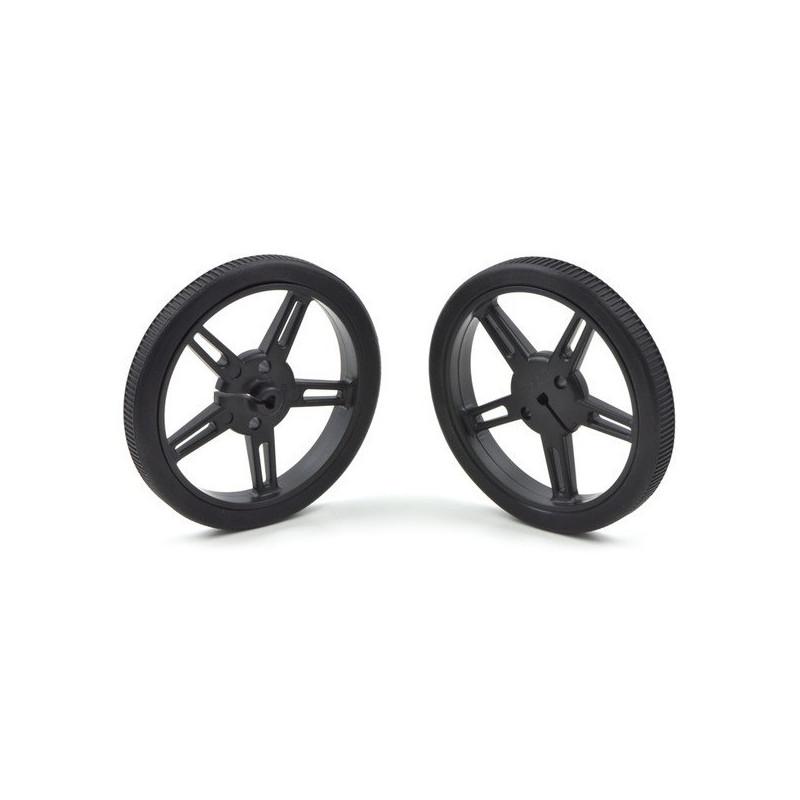 Pololu 90x10mm Wheels - black*