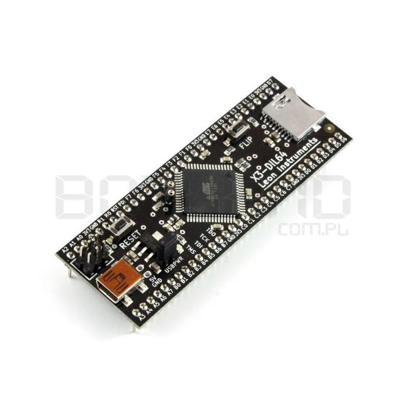 Module X3-DIL64 ATXmega128A3U-AU + free ONLINE course