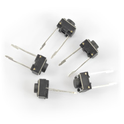 Tact Switch 6x6, 14mm THT 2pin - 5szt.