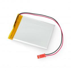 Akumulator Li-Pol Akyga 1400mAh 1S 3,7V - złącze JST-BEC + gniazdo - 63x50x4mm