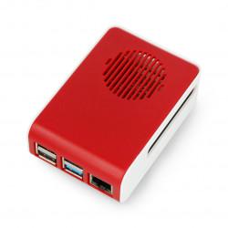 Obudowa do Raspberry Pi 4B - ABS - LT-4A11 - biało czerwona