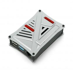Obudowa do Raspberry Pi 4B - ABS - srebrna - LT-4A12