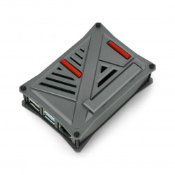 Obudowa do Raspberry Pi 4B - ABS - grafitowa - LT-4A12