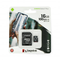 The memory card Kingston Canvas Select Plus, microSD HC 16 GB: 100 MB/s + adapter