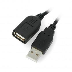 Przedłużacz USB A - A z przełącznikiem On/Off czarny - 0,5m