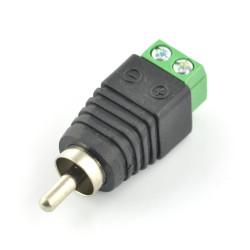 Wtyk RCA z szybkozłączem śrubowym