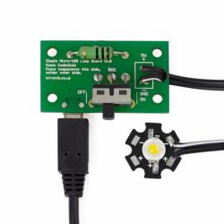 Zestaw do budowy lampki LED 1W-microUSB