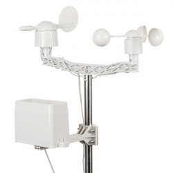 Weather station with measurement of the direction and speed of wind