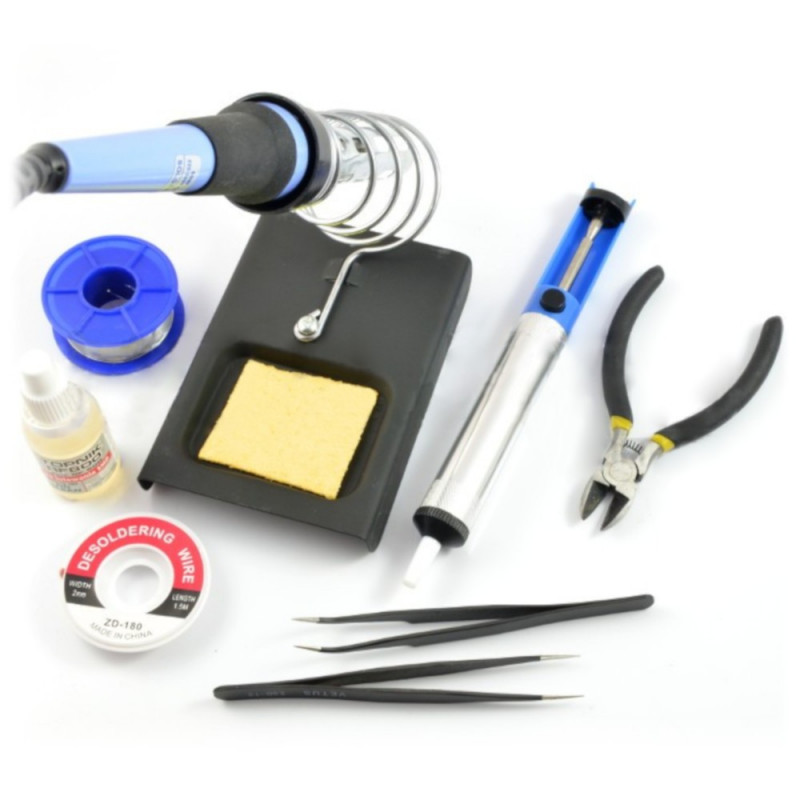 Tools set for soldering + soldering iron