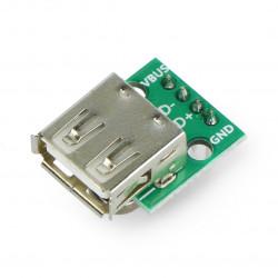 Moduł z gniazdem USB typ A - wlutowane złącza