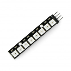 LED strip RGB WS2812 5050 x 8 LEDs - 53mm - soldered connectors