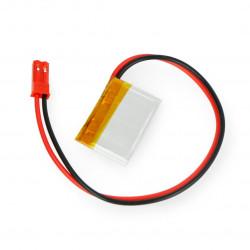 Akyga Li-Pol battery 33mAh 1S 3,7V - JST-BEC connector + socket - 28x17x1,4mm