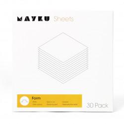 Mayku Form Sheets - biały arkusz 0,5mm dla Formbox - 30szt.