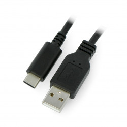 ART USB cable A 2.0 - USB C black - 2m