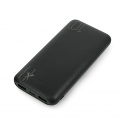 Mobile battery PowerBank Extreme Style Ampere AEPB10-C2U 10000mAh - black