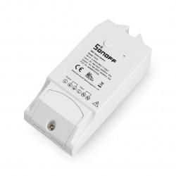 Sonoff TH10 - przekaźnik 230V z pomiarem temperatury i wilgotności - przełącznik WiFi Android / iOS