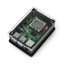 Akrylowa obudowa z wentylatorem 5V dla Raspberry Pi 4 - TPH - 001