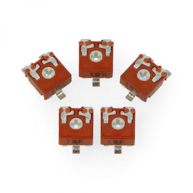 Potencjometr 10kΩ leżący - SMD - 5szt.
