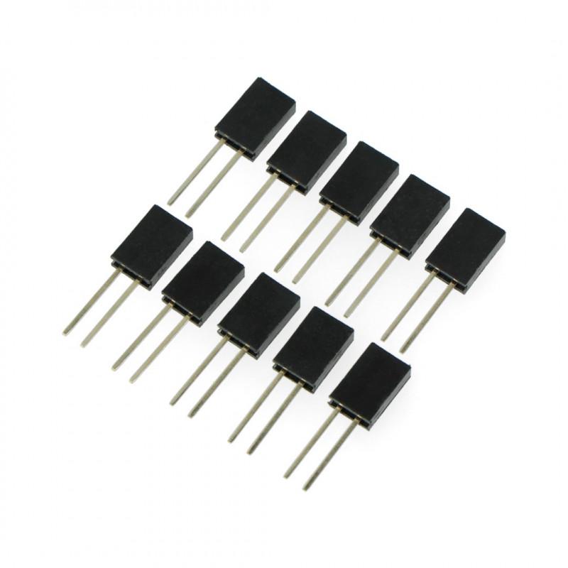 Socket 1x2pin - 2,54mm - long - 10pcs*