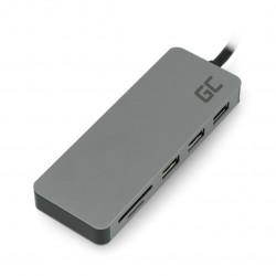 Hub - stacja dokująca USB-C / HDMI / DEX / SD / microSD / USB 3.0 / USB 2.0 Green Cell