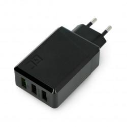 Zasilacz Green Cell Charge Source 3 x USB 30W z szybkim ładowaniem Ultra Charge i Smart Charge