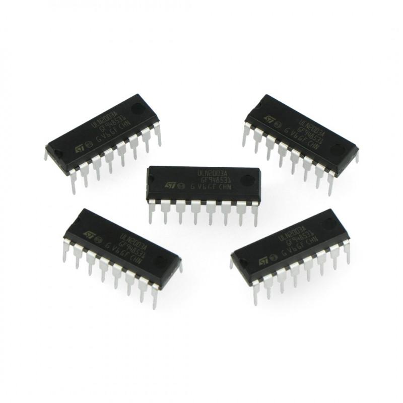 Integrated circuit ULN2003AN 7xDarlington - THT - 5 pcs._
