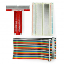 Extension GPIO Raspberry 3B+/3B/2B/B+ to the contact plate + tape + breadboard