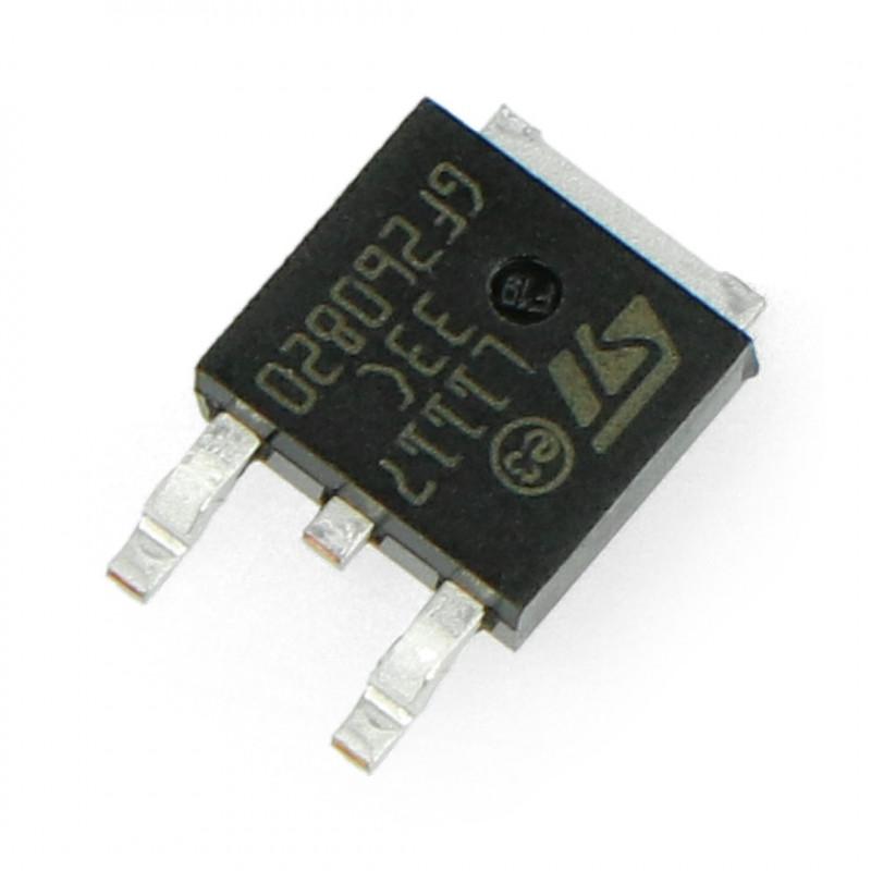 Linear voltage regulator LDO 3,3V LM1117DT - SMD TO252