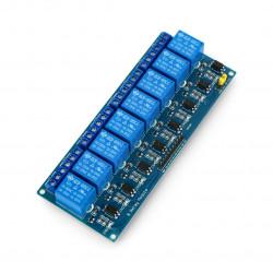 Ośmiokanałowy moduł przekaźników RM10 5V z izolacją optoelektroniczną 10A/125VAC