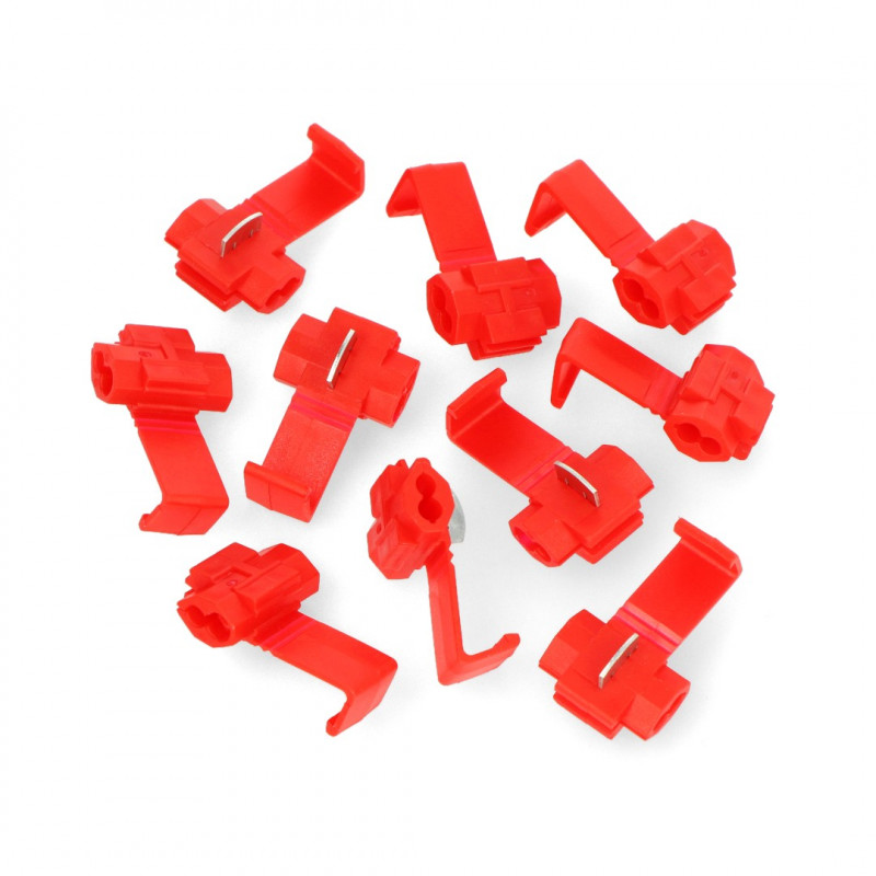 Quick connector 1-2,5mm - red - 10pcs*