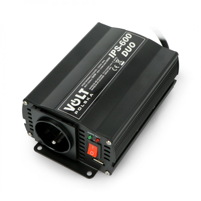 Converter DC/AC step-up 12/24VDC / 230VAC 300/600W - car - Volt IPS-600 Duo