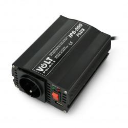 Przetwornica DC/AC step-up 12VDC / 230VAC 250/500W - samochodowa - Volt IPS-500 Plus