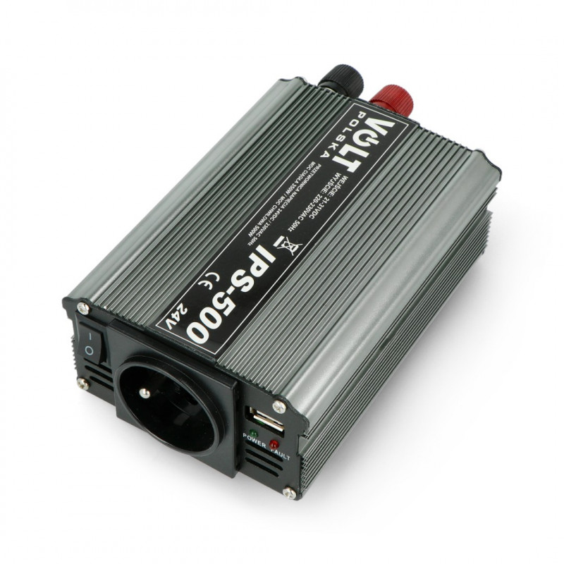 Converter DC/AC step-up 24VDC / 230VAC 350/500W - sinus - Volt IPS-500
