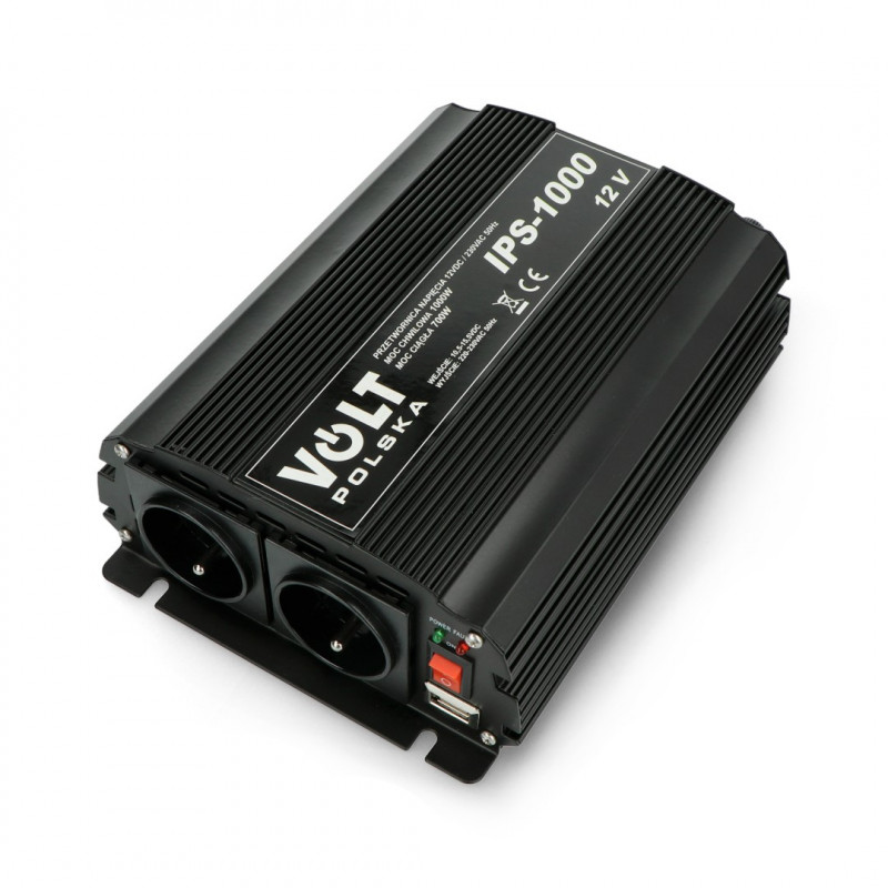 Przetwornica DC/AC step-up 12VDC / 230VAC 700/1000W - sinus - Volt IPS-1000