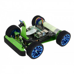 PiRacer DonkeyCar - 4-wheel robot platform with camera, DC drive and OLED display