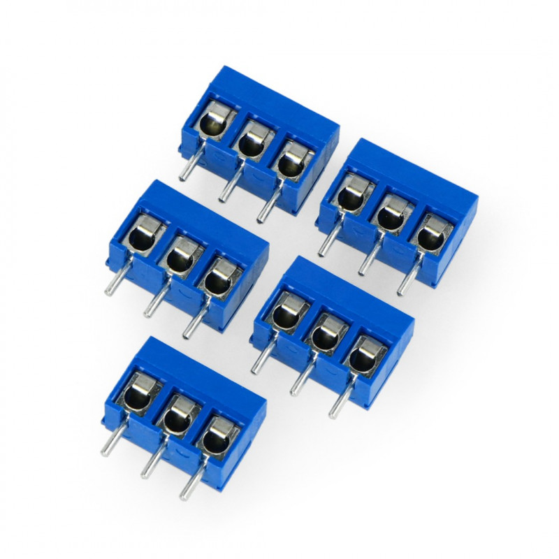 ARK connector KF301 raster 5.0mm 3 pin (-) - 5pcs*