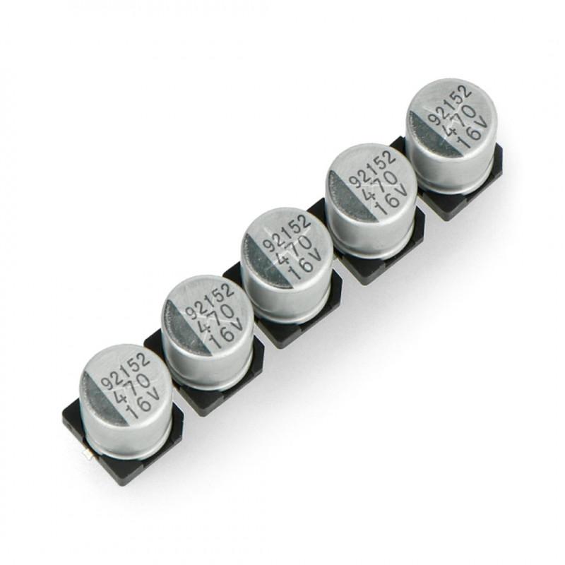 Kondensator elektrolityczny 470uF/16V SMD - 5szt.