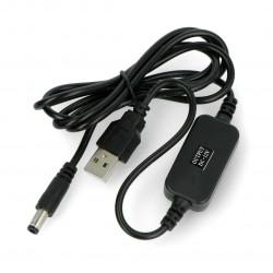 Ładowarka / zasilacz USB 12V / 700 mA - wtyk DC 5,5 / 2,1mm