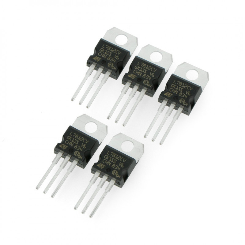 Linear voltage regulator 12V LM7812CV - THT TO220 - 5pcs