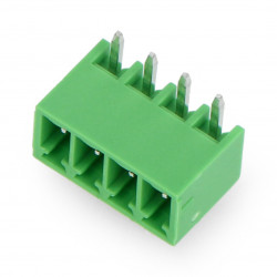 Male mounting strip, 4-pin, 3.5mm pitch, angled, built-in