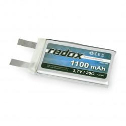 Pakiet Li-Pol Redox 1100 mAh 3.7V 20C(bez konektorów)