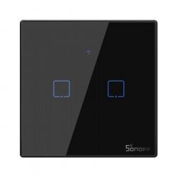 Sonoff T3EU2C-TX - włącznik ścienny dotykowy - 433MHz / WiFi - 2-kanałowy