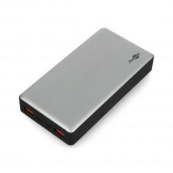 Mobilna bateria Powerbank Goobay 20.0 59854 Quick Charge 3.0 20000 mAh - szaro - czarna
