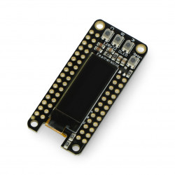 FeatherWing Adafruit OLED display 128x32px - pad for Feather