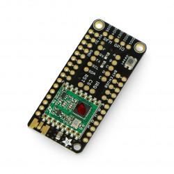 Adafruit FeatherWing radio module 433 MHz Lora - pad for Feather