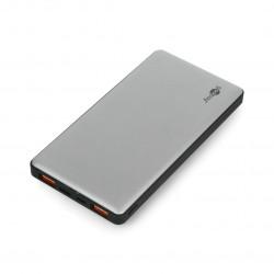 Mobilna bateria PowerBank Goobay 10.0 59821 Quick Charge 3.0 10000mAh - szaro - czarna