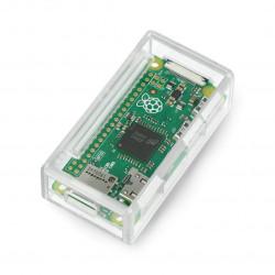 Obudowa Raspberry Pi Zero Pi Supply plastikowa - przezroczysta