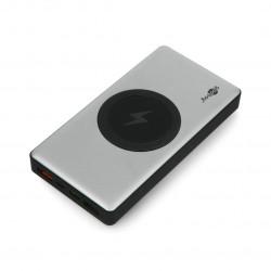 Mobilna bateria PowerBank Goobay Wireless 10.0 55152 Quick Charge 3.0 10000mAh - szaro - czarna