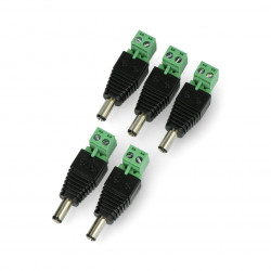 Plug DC φ5.5 x 2.5 mm with terminal connector