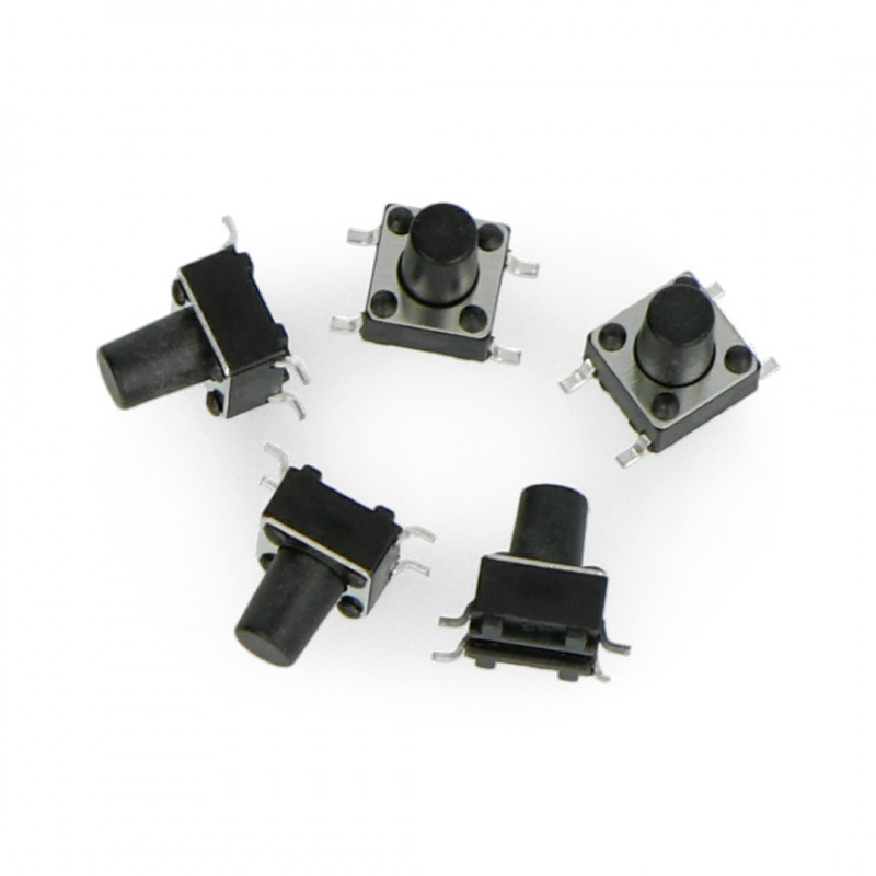 Tact Switch 6x6, 9.5mm SMD - 5szt.*